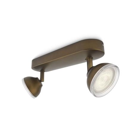 Philips 53242/06/16 - LED bodové svítidlo TOSCANE 2xLED/3W/230V