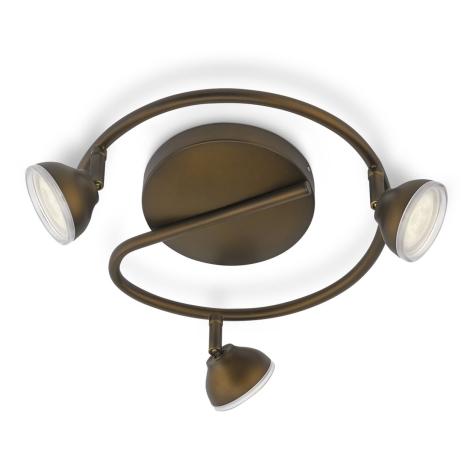 Philips 53249/06/16 - LED bodové svítidlo TOSCANE 3xLED/3W/230V