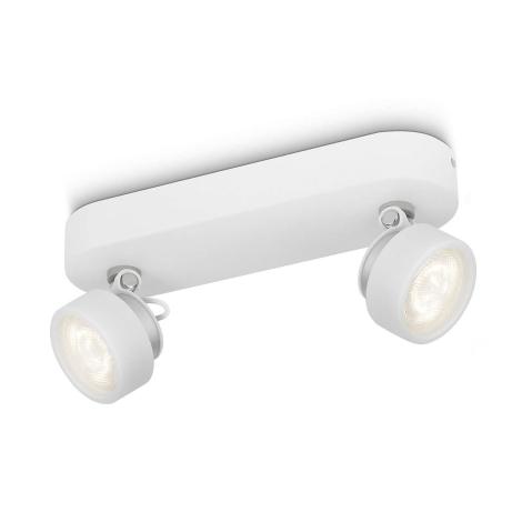Philips 53272/31/16 - LED bodové svítidlo RIMUS 2xLED/3W/230V