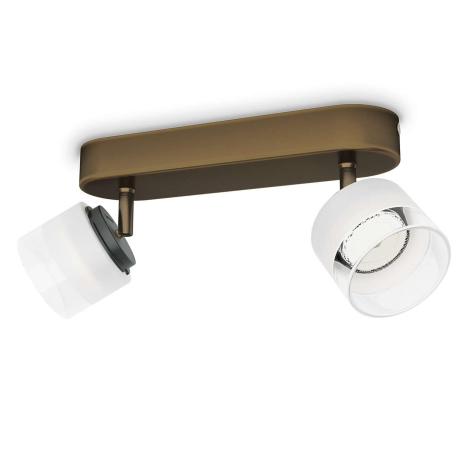Philips 53332/06/16 - LED bodové svítidlo FREMONT 2xLED/4W/230V