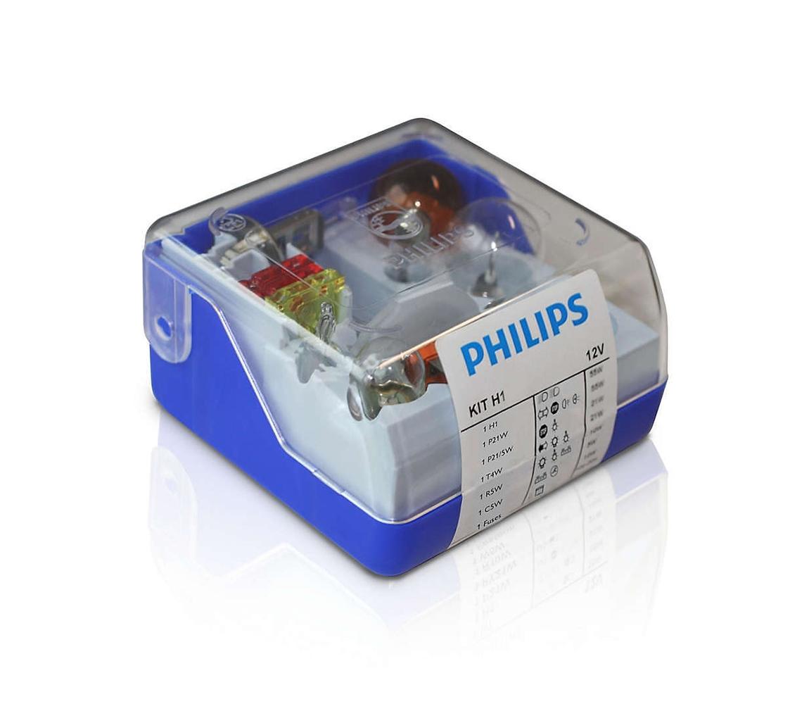Philips Philips 55008SKKM - Sada náhradních autožárovek H1 12V P2285