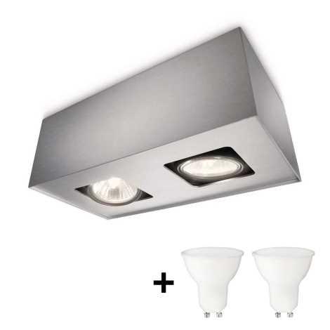 Philips 56232/48/PN - LED Bodové svítidlo TEMPO 2xGU10/6W/230V