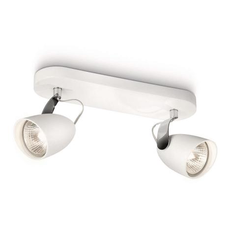 Philips 56322/31/16 - Bodové svítidlo CATALPA 2xGU10/75W/230V