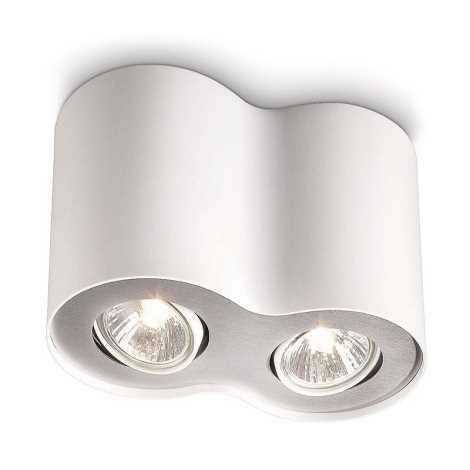 Philips 56332/31/16 - Bodové svítidlo MYLIVING PILLAR 2xGU10/50W/230V