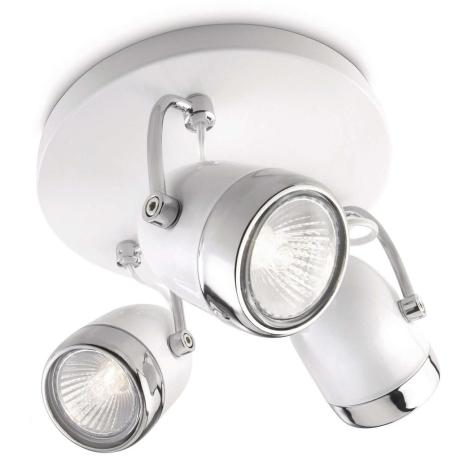 Philips 56483/31/16 - Bodové svítidlo MYLIVING BALSA 3xGU10/35W/230V