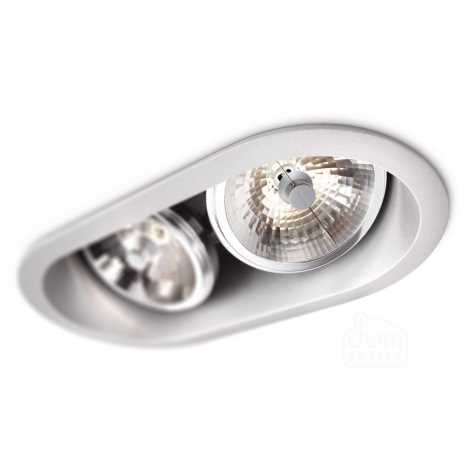 Philips 57976/48/16 - Podhledové svítidlo MYLIVING INDUS 2xG53/30W/230V