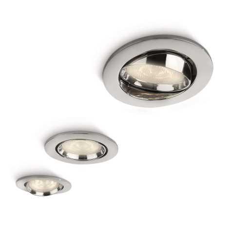 Philips 59030/11/16 - 3x LED Podhledové světlo MYLIVING ELLIPSE 3xLED/3W chrom