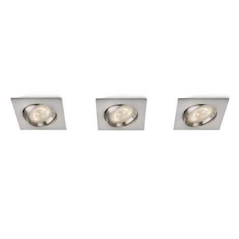 Philips 59080/17/16 - SADA 3x LED podhledové svítidlo MYLIVING GALILEO 1xLED/3W