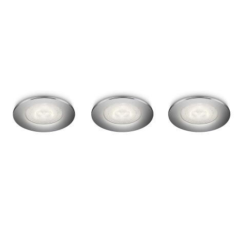 Philips 59100/11/16 - SADA 3x LED podhledové svítidlo SCEPTRUM 3xLED/3W/230V