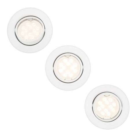 Philips 59163/31/PN - SADA 3x Koupelnové podhledové svítidlo MYLIVING TAURUS 3xGU10/5W/230V