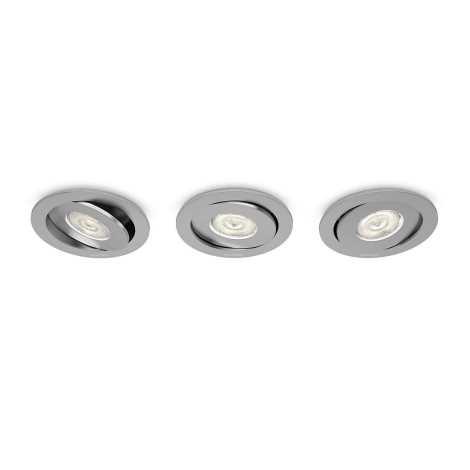 Philips 59183/48/16 - SADA 3x LED podhledové svítidlo ASTEROPE 1xLED/4,5W/230V