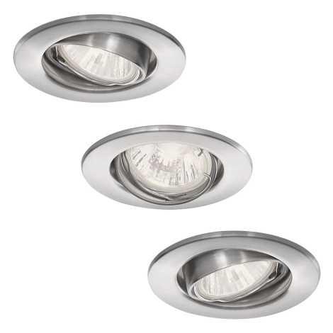 Philips 59463/17/16 - SADA 3x Koupelnové podhledové svítidlo VIRGO 1xGU10/35W/230V