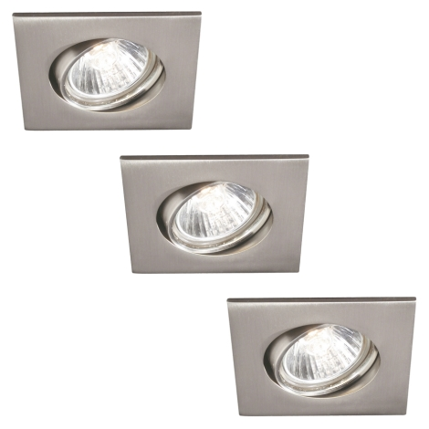 Philips 59473/17/16 - SADA 3x Koupelnové podhledové svítidlo MYLIVING CAPELLA 3xGU10/35W