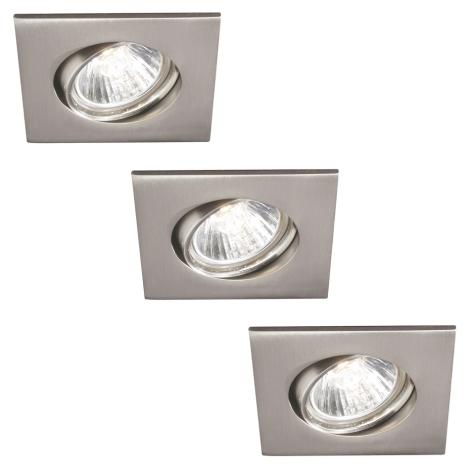 Philips 59473/17/16 - SADA 3xGU10/30W Koupelnové podhledové svítidlo MYLIVING CAPELLA 3xGU10/30W/230V