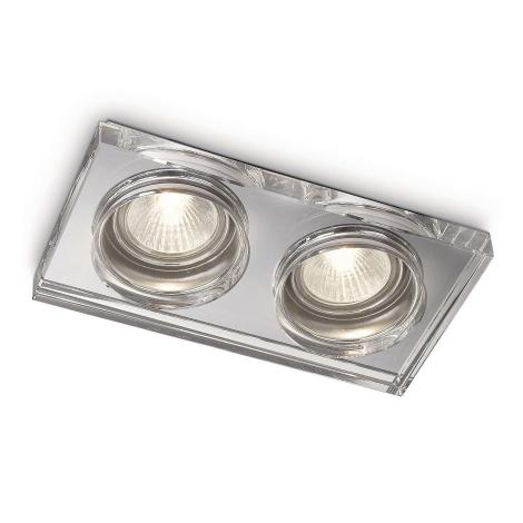 Philips 59562/11/16 - Koupelnové podhledové svítidlo MYLIVING DERMOS 2xGU10/35W/230V