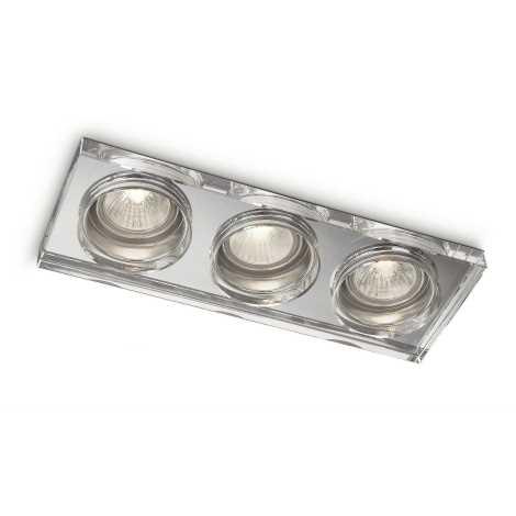 Philips 59563/11/16 - Koupelnové podhledové svítidlo MYLIVING DERMOS 3xGU10/35W