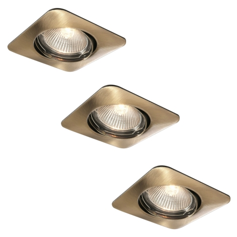 Philips 59663/06/16 - SADA 3x Koupelnové podhledové svítidlo MYLIVING MERGA 1xGU10/35W/230V bronz
