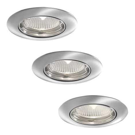 Philips 59773/17/16 - SADA 3x Koupelnové podhledové svítidlo ALYA 3xGU10/35W