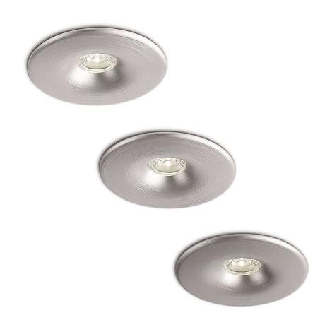Philips 59843/48/16 - SADA 3x LED koupelnové podhledové svítidlo MEROPE 3xLED/2W
