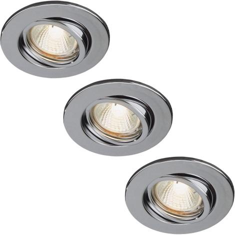 Philips 59902/11/16 - SADA 3x Koupelnové podhledové svítidlo 1xGU10/35W