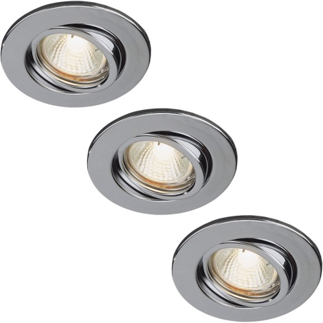 Philips 59902/11/16 - SADA 3x Koupelnové podhledové svítidlo 3xGU10/35W