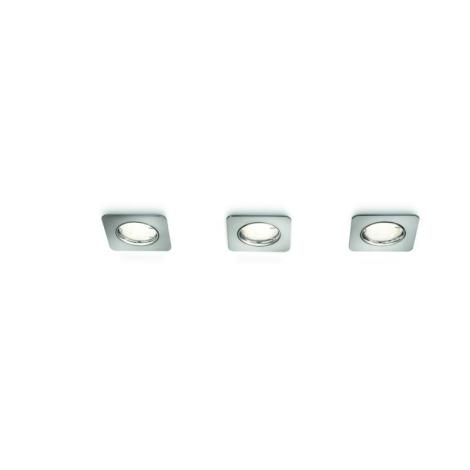 Philips 66719/17/16 - SADA 3x Podhledové svítidlo RECESSED 3xGU10/10W