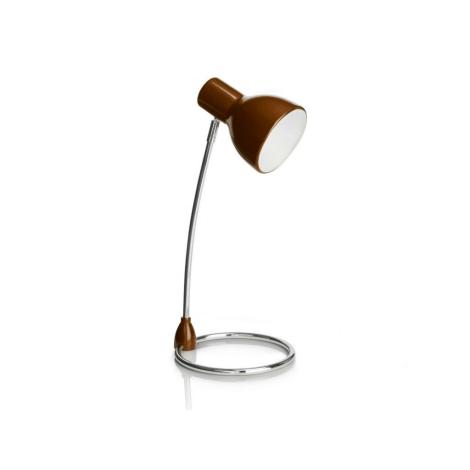 Philips 67204/43/16 - Stolní lampa SONG hnědá 1xE27/15W/230V