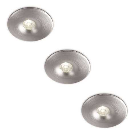 Philips 69077/48/16 - SADA 3x LED Koupelnové podhledové světlo LEDINO 3xLED/2,5W