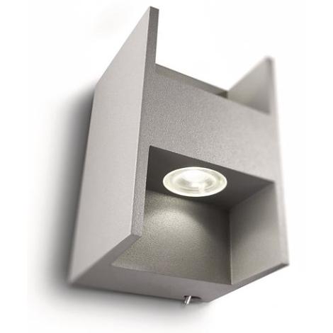 Philips 69087/87/16 - LED Nástěnné svítidlo MYLIVING METRIC 2xLED/2,5W/230V