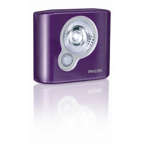 Philips 69141/96/PH - LED Orientační svítidlo SPOTON ULTRA fialová