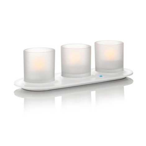 Philips 69187/60/PH - LED SADA 3x Stolní lampa TEALIGHTS NATURELLE 3xLED/0,5W