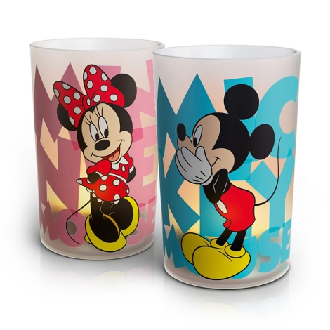 Philips 71712/55/16 - LED stolní lampa CANDLES MICKEY & MINNIE 2xSET LED/15W