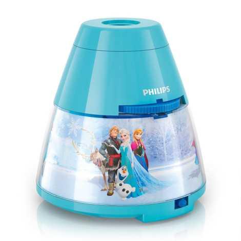 Philips 71769/08/16 - LED dětská lampa FROZEN 1xLED/0,1W + 3xLED/0,3W/3xAA projektor
