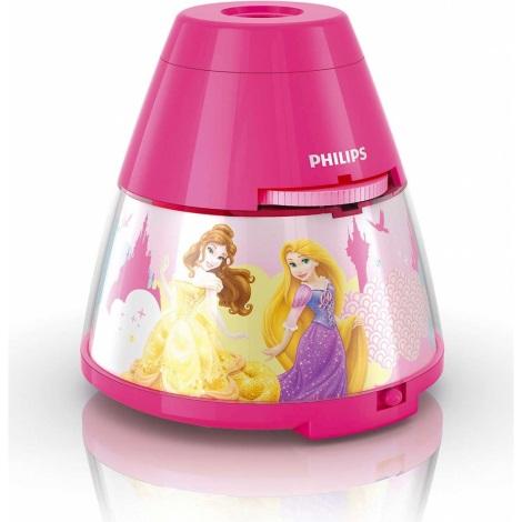 Philips 71769/28/16 - Dětská stolní lampa a projektor DISNEY PRINCESS 1xLED/0,1W + 3xLED/0,3W/4,5V