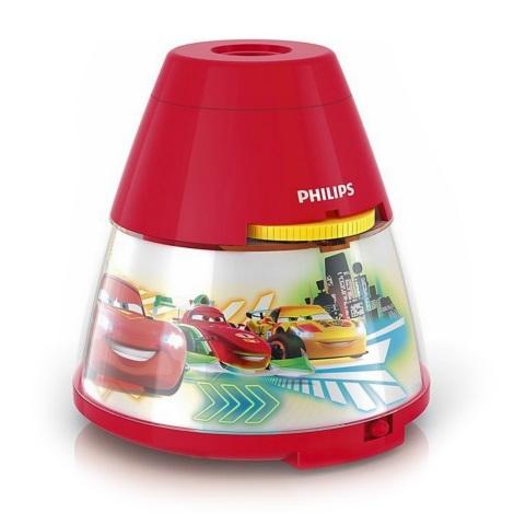 Philips 71769/32/16 - LED Dětská lampa a projektor DISNEY CARS