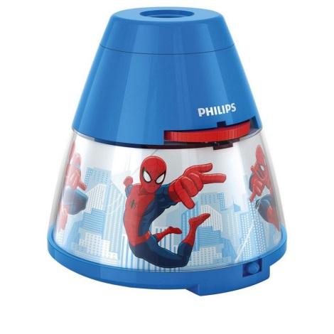 Philips 71769/40/16 - Dětský projektor DISNEY SPIDER-MAN 1xLED/0,1W + 3xLED/0,3W