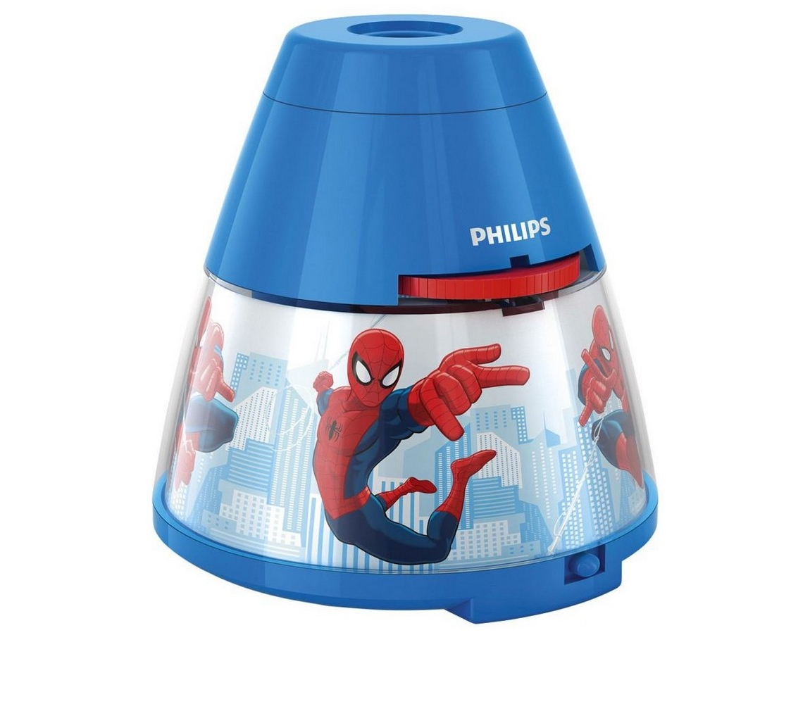 Philips 71769/40/16 - Dětský projektor DISNEY SPIDER-MAN 1xLED/0,1W