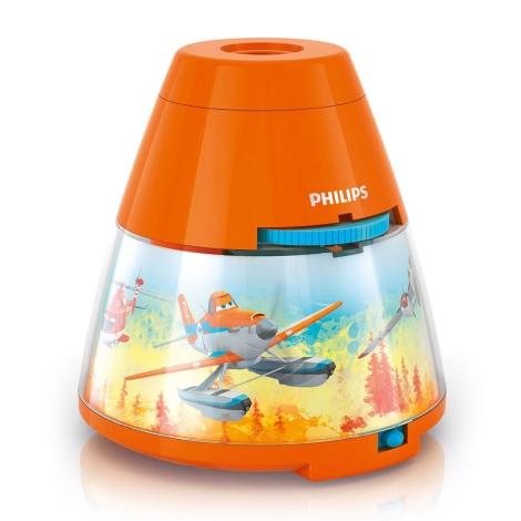 Philips 71769/53/16 - LED dětský projektor PLANES 1xLED/0,1W + 3xLED/0,3W/3xAA