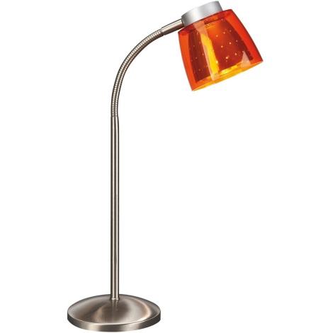 Philips Bright Light 67110/53/15 - Stolní lampa  1xG9/40W/230V oranžová