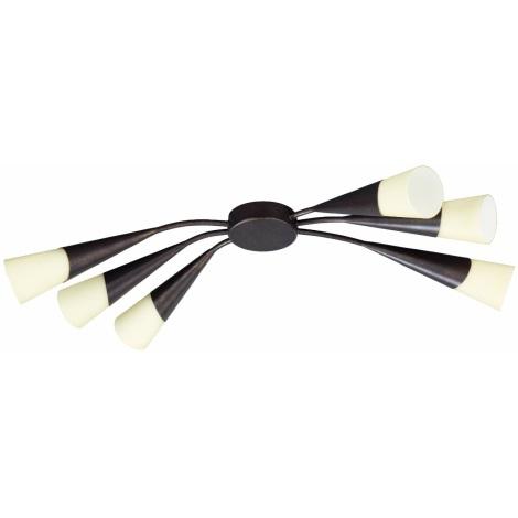 Philips Eseo 37846/43/13 - Stropní svítidlo STREAM 6xE14/40W hnědá