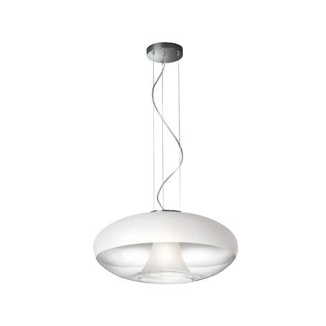 Philips Lirio 41010/11/LI - Závěsný lustr ADISA chrom/bílá/čirá