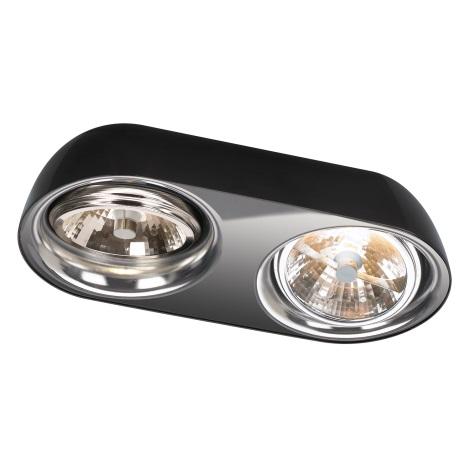 Philips Lirio 57132/30/LI - Stropní svítidlo DOLOQ 2xG53/35W černá