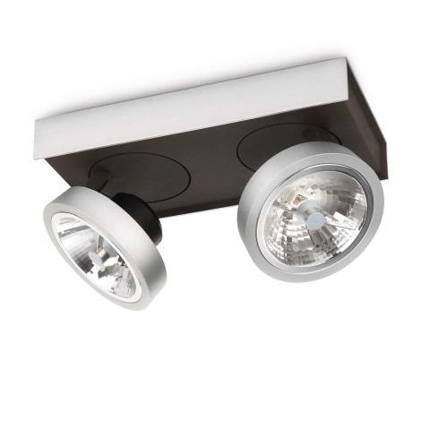 Philips Lirio 57982/48/16 - Bodové svítidlo BONQ 2xG53/45W/230V