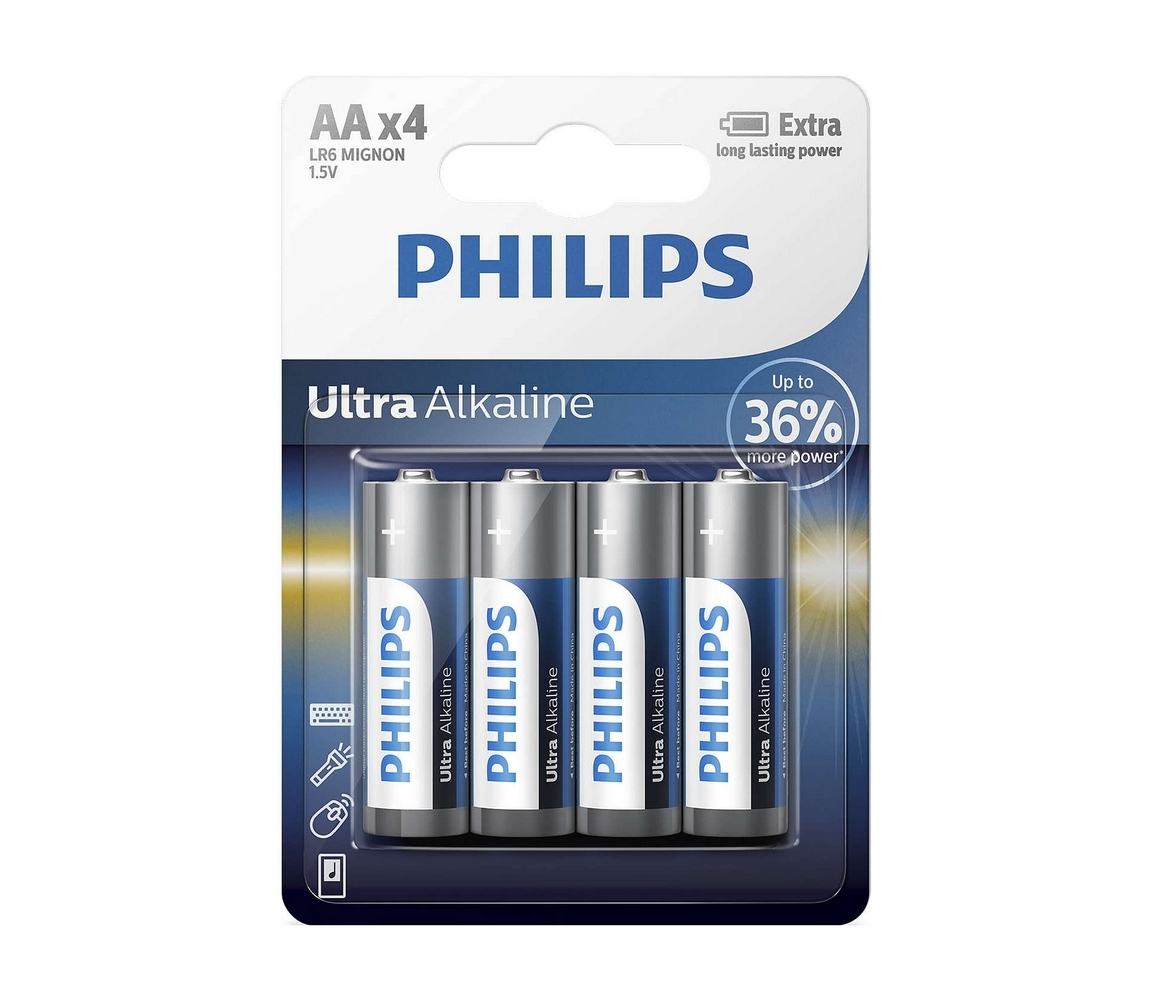 Baterie Philips Ultra Alkaline AA 4ks