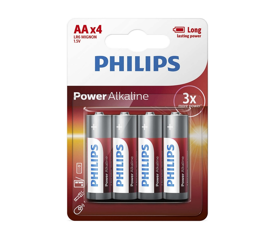 Baterie Philips PowerLife AA 4ks