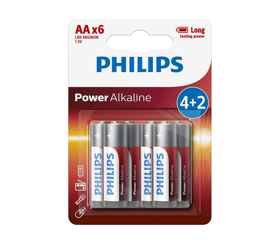 Baterie Philips Power Alkaline AAA 6ks