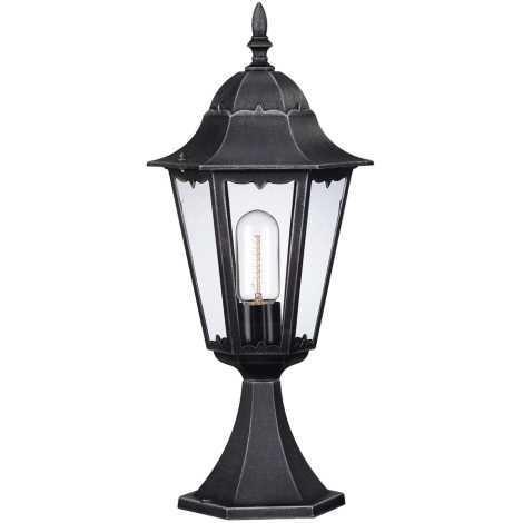Philips Massive 15022/54/10 - Venkovní lampa ZAGREB 1xE27/100W  černá - stříbrná patina