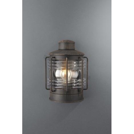 Philips Massive 15277/86/10 - Venkovní nástěnné svítidlo NEW HAVEN 1xE27/60W antická hnědá