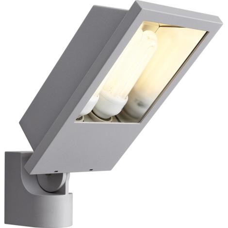 Philips Massive 17515/87/10 - Venkovní nástěnné svítidlo LAGOS 2xE27/23W metalicky šedá