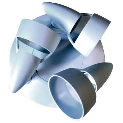 Philips Massive 345774 - Bodové svítidlo plafond 3xE14/40W plast bílá